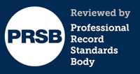 professional record standards body logo